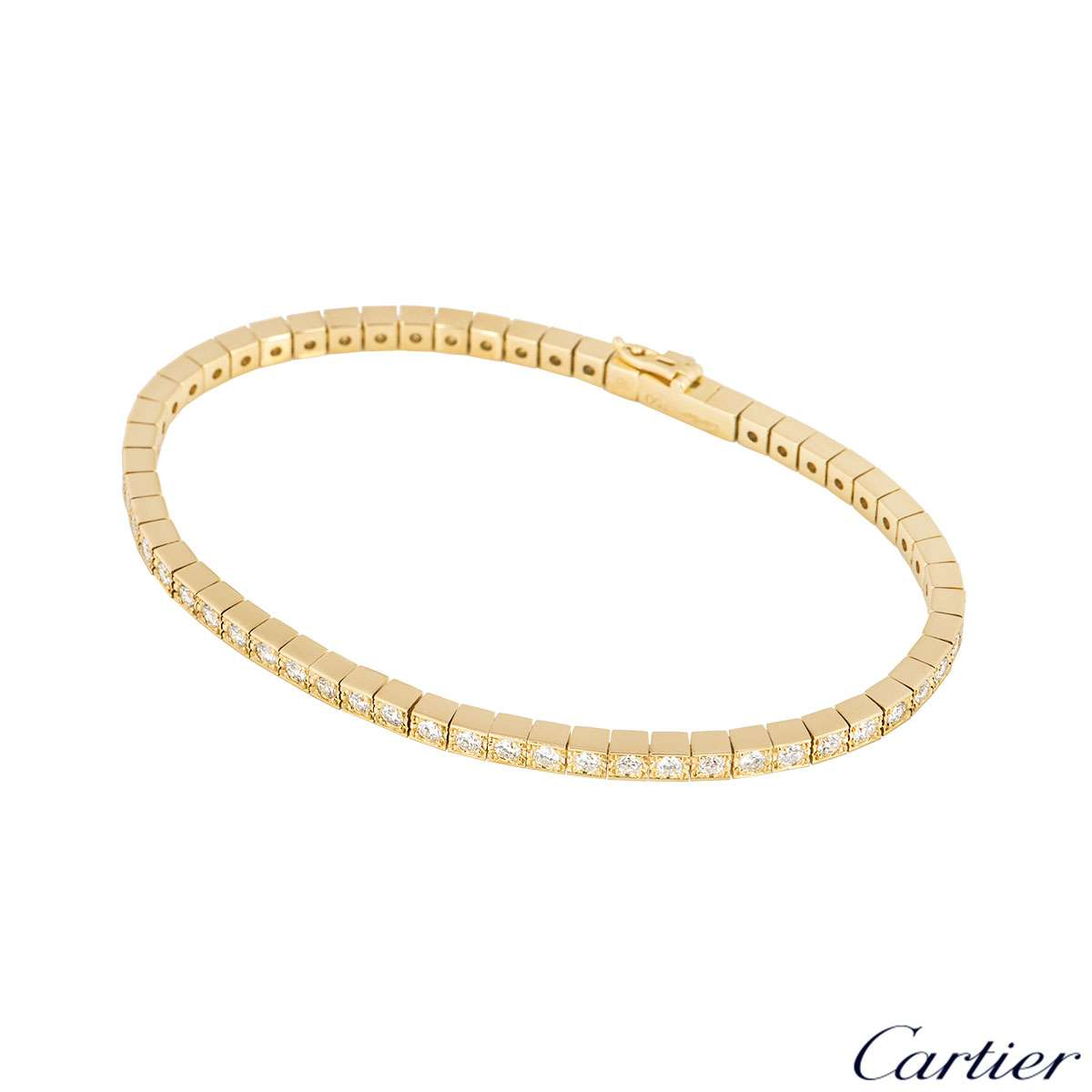 Cartier Yellow Gold Lanieres Diamond Bracelet